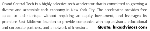 Quote from Hub@GCT Opens Grand Central Tech